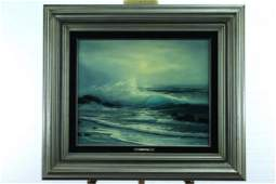 Raymond Page Framed Oil Painting on Board
