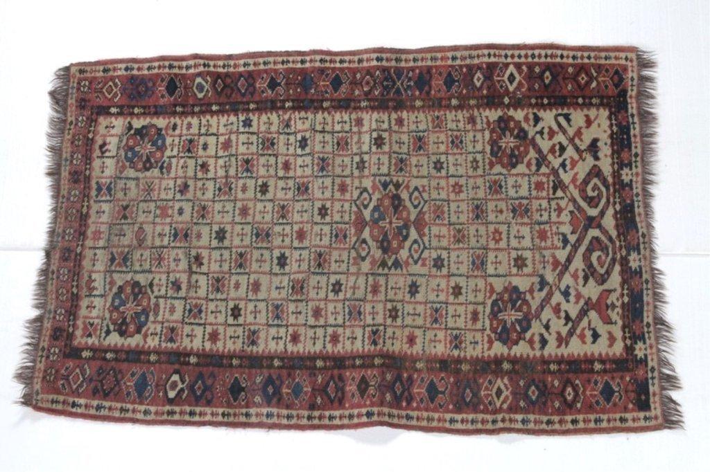 Antique Oriental Middle Eastern Prayer Rug