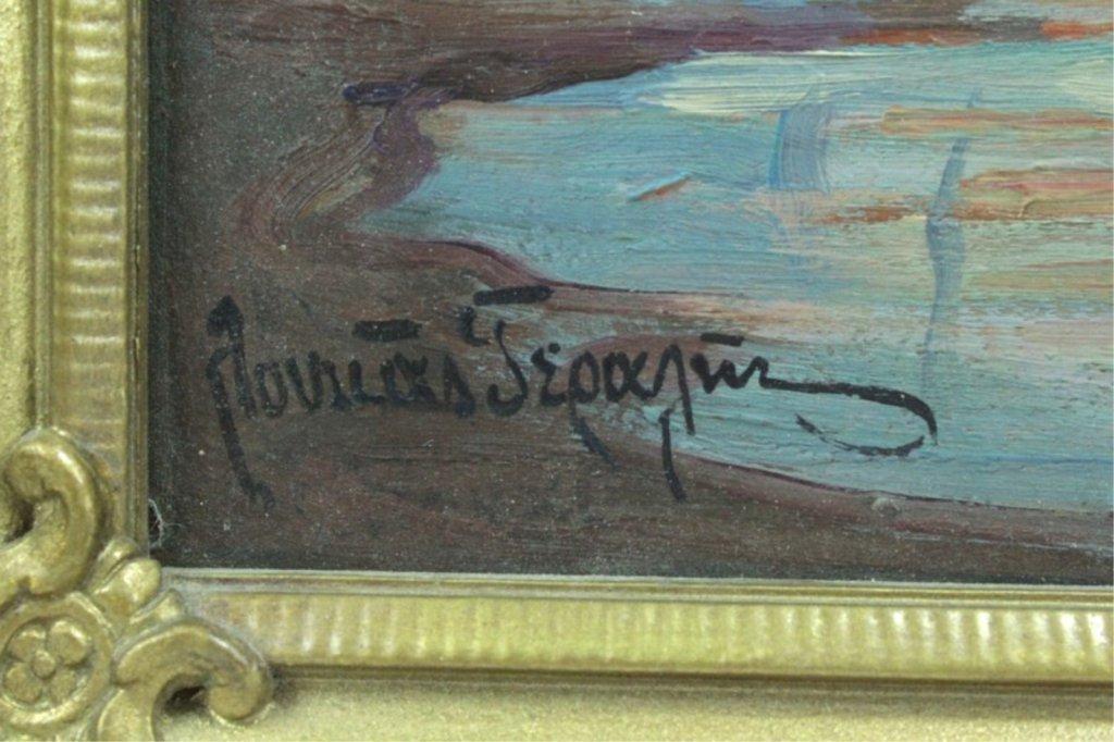 Unknown Artist Greek Oil Painting On Board - 2