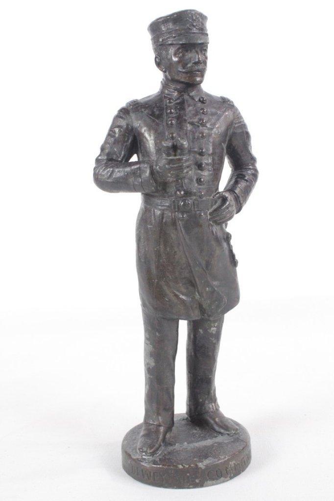 Antique Spelter Metal Sculpture Of Admiral Dewey
