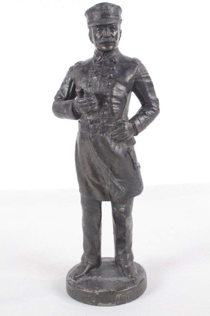 Antique Spelter Metal Sculpture Of Admiral Dewey - 2