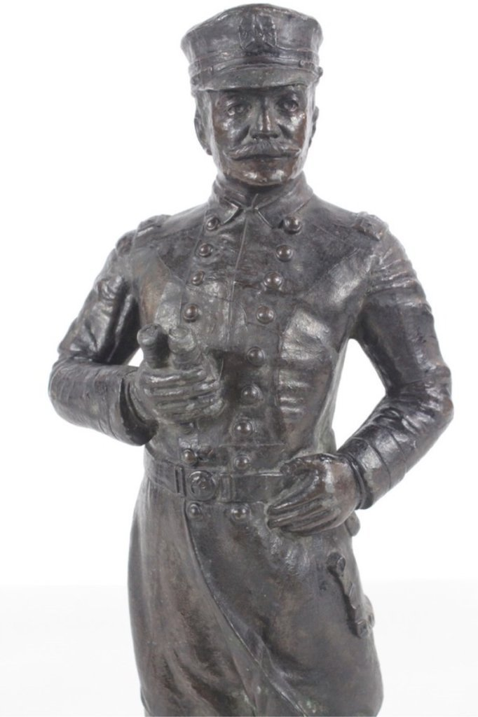 Antique Spelter Metal Sculpture Of Admiral Dewey - 3