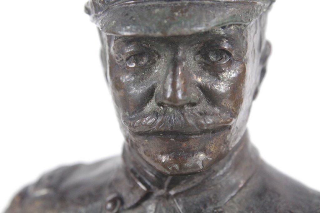 Antique Spelter Metal Sculpture Of Admiral Dewey - 6