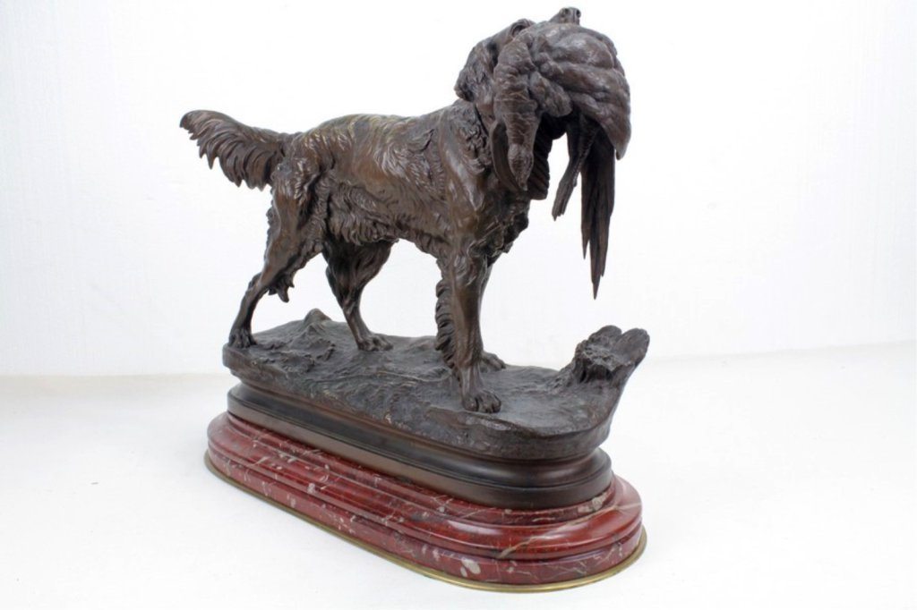 AFTER JULES MOIGNIEZ Antique Bronze Sculpture