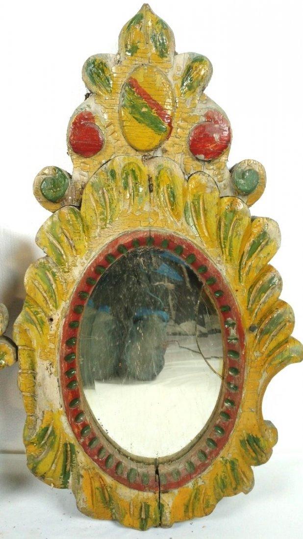 2 Parker Carousel Trim Mirrors/End Caps - 3