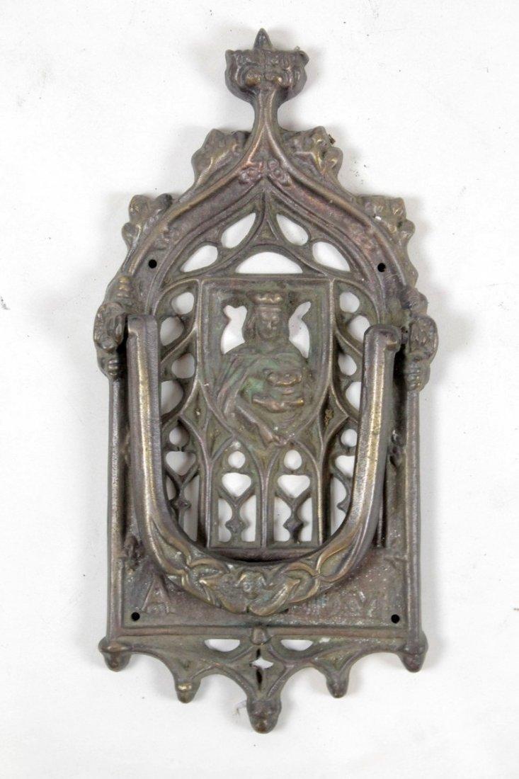 Gothic Style Antique Cast Iron Door Knocker