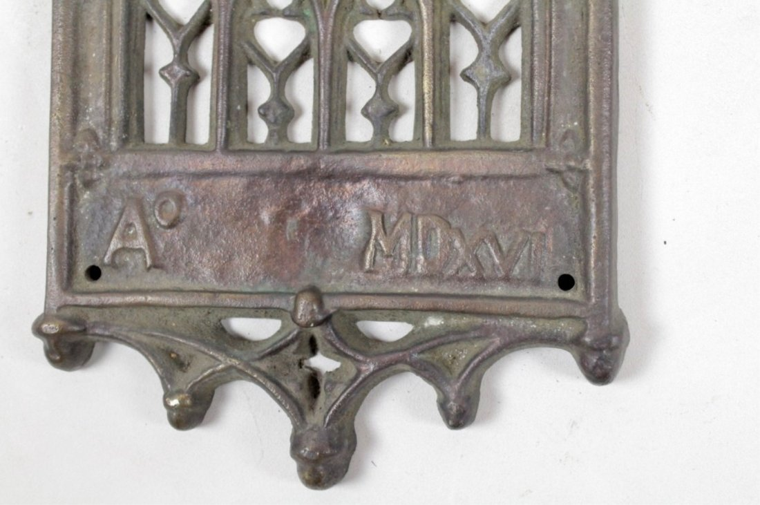 Gothic Style Antique Cast Iron Door Knocker - 2