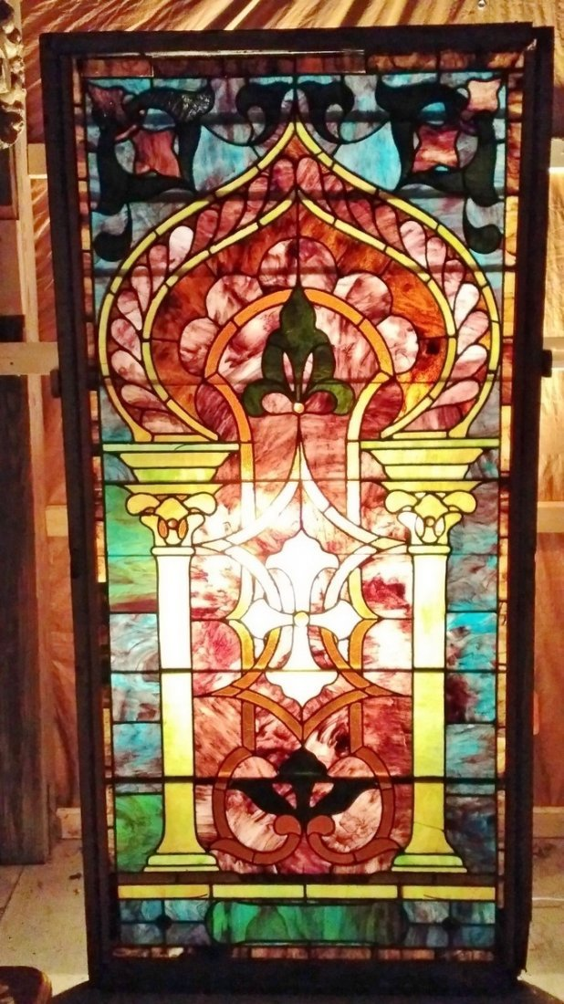 Large Ornate URN Pattern Stained Glass #A