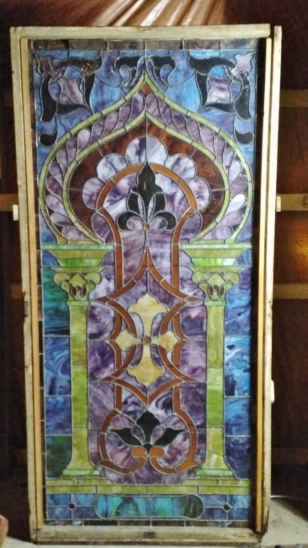 Large Ornate URN Pattern Stained Glass #A - 2
