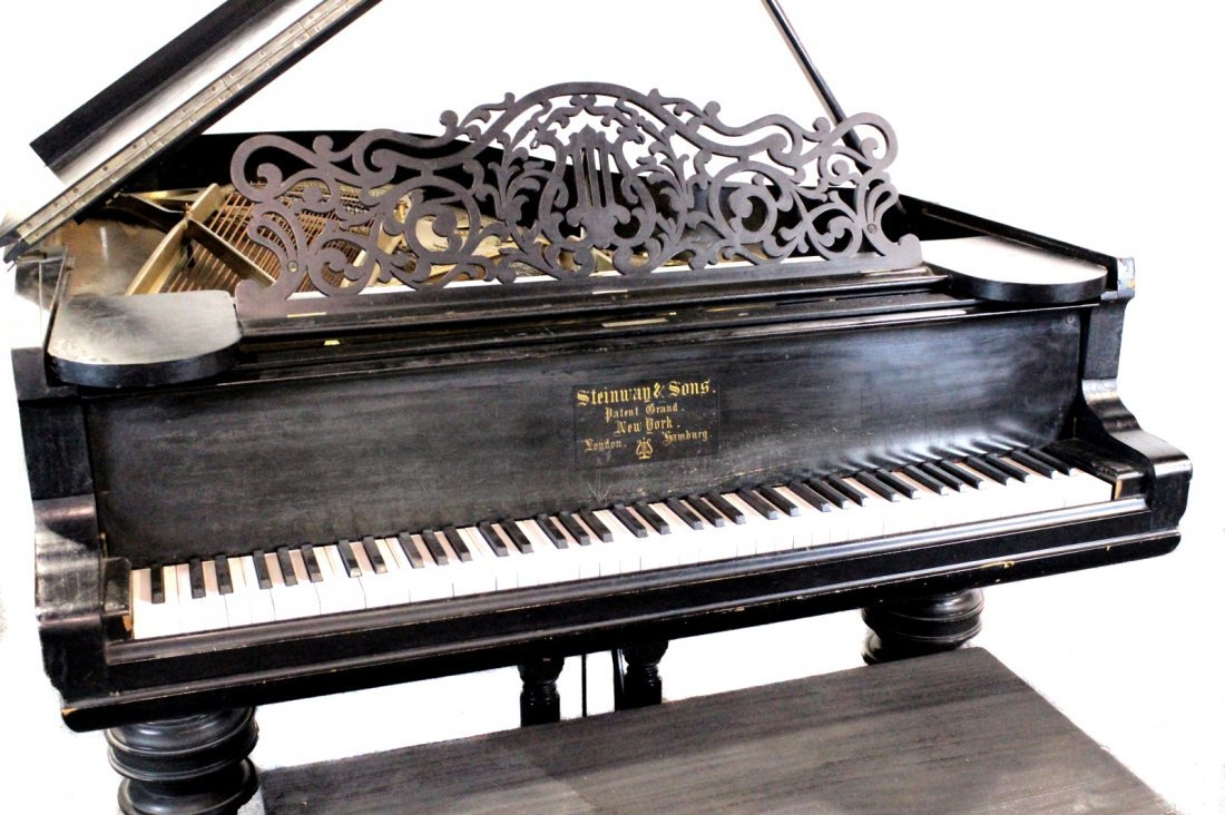 Vintage 1887 Steinway Studio Grand Piano, Model B - 2