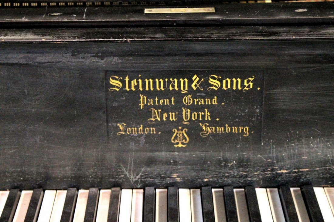 Vintage 1887 Steinway Studio Grand Piano, Model B - 3