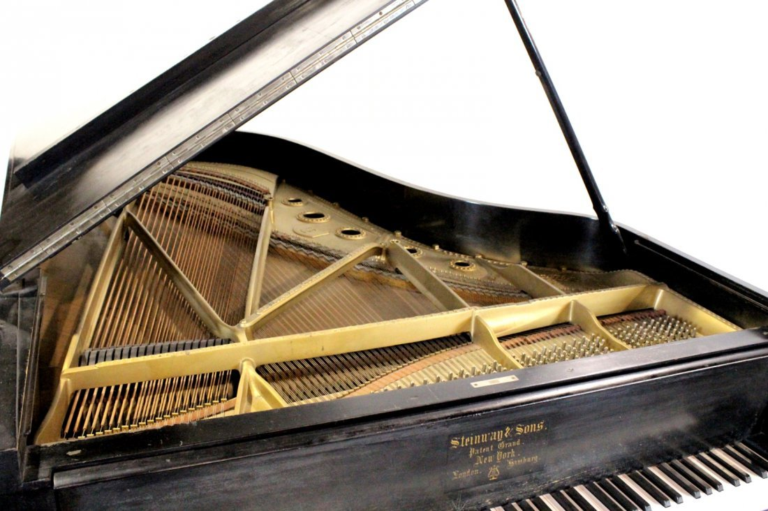 Vintage 1887 Steinway Studio Grand Piano, Model B - 5