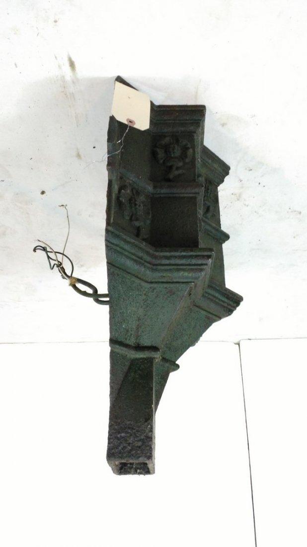 Antique Cast Iron Wall Sconce Gutter Head - 2