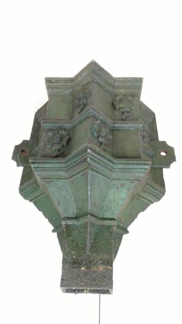 Antique Cast Iron Wall Sconce Gutter Head