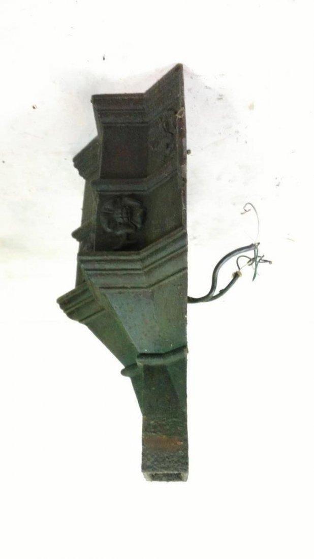 Antique Cast Iron Wall Sconce Gutter Head - 4