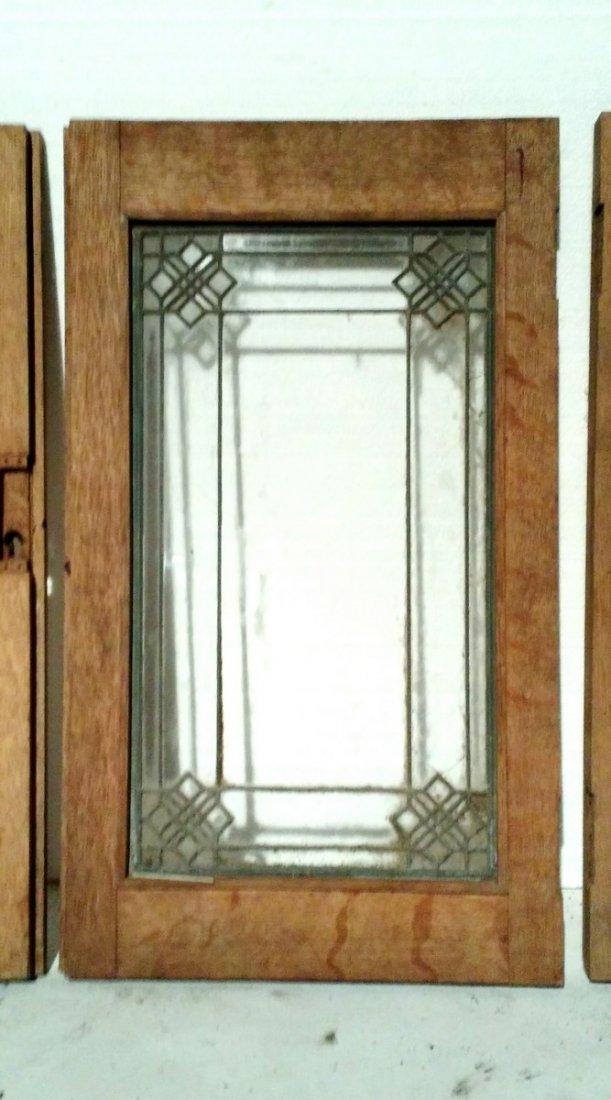 (5) Small Decorative Leaded Glass Window Panes - 2