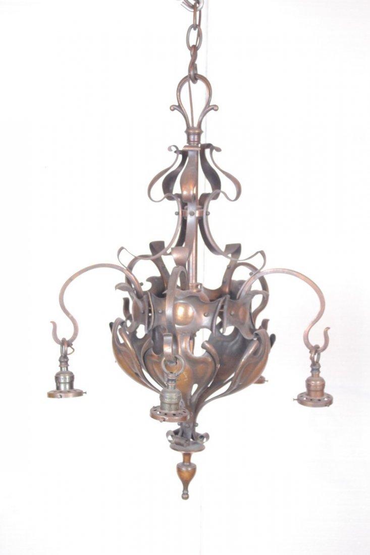 Antique Brass 4-Light Chandelier