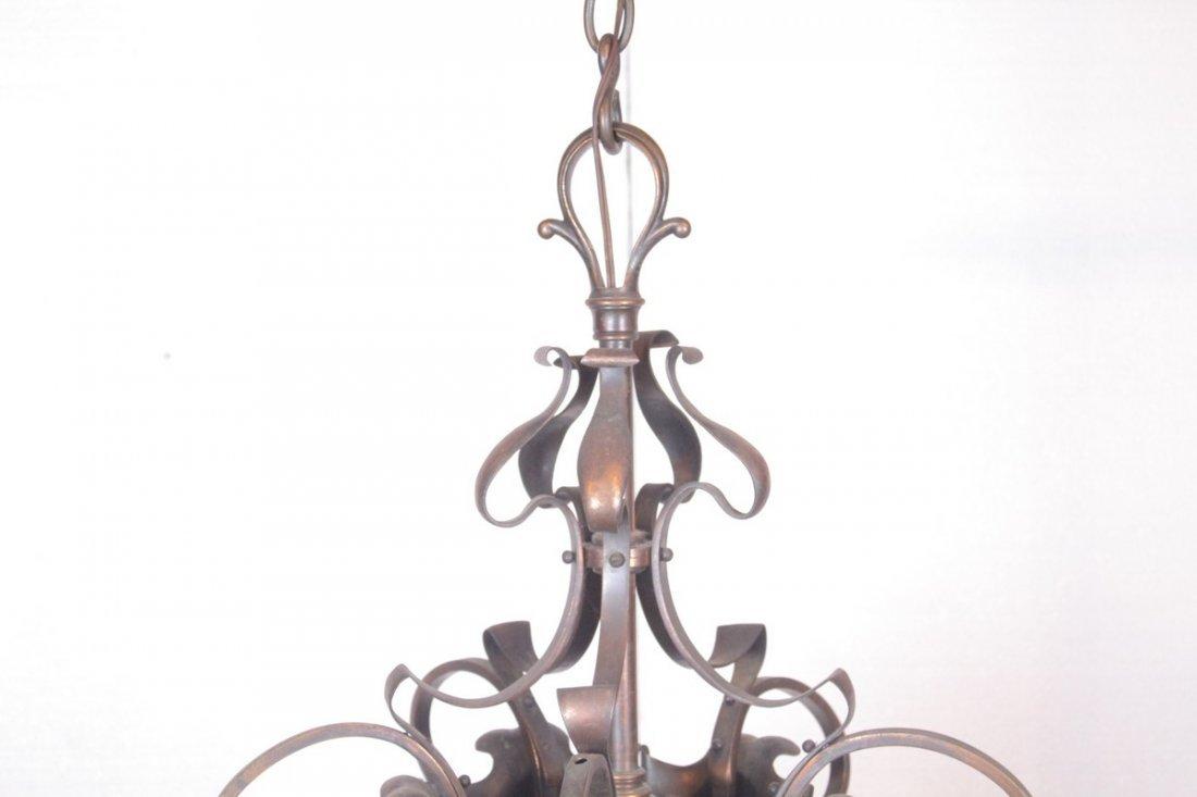 Antique Brass 4-Light Chandelier - 2
