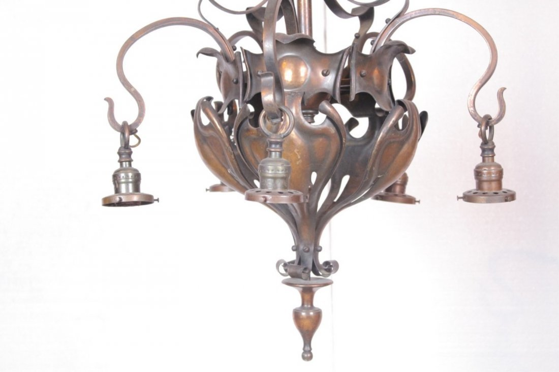 Antique Brass 4-Light Chandelier - 4