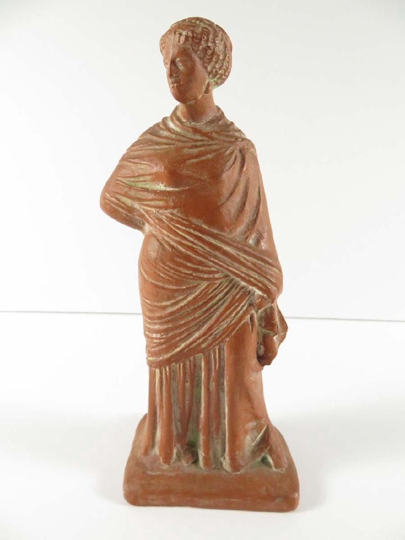 Greek Terracotta Figure Standing Woman