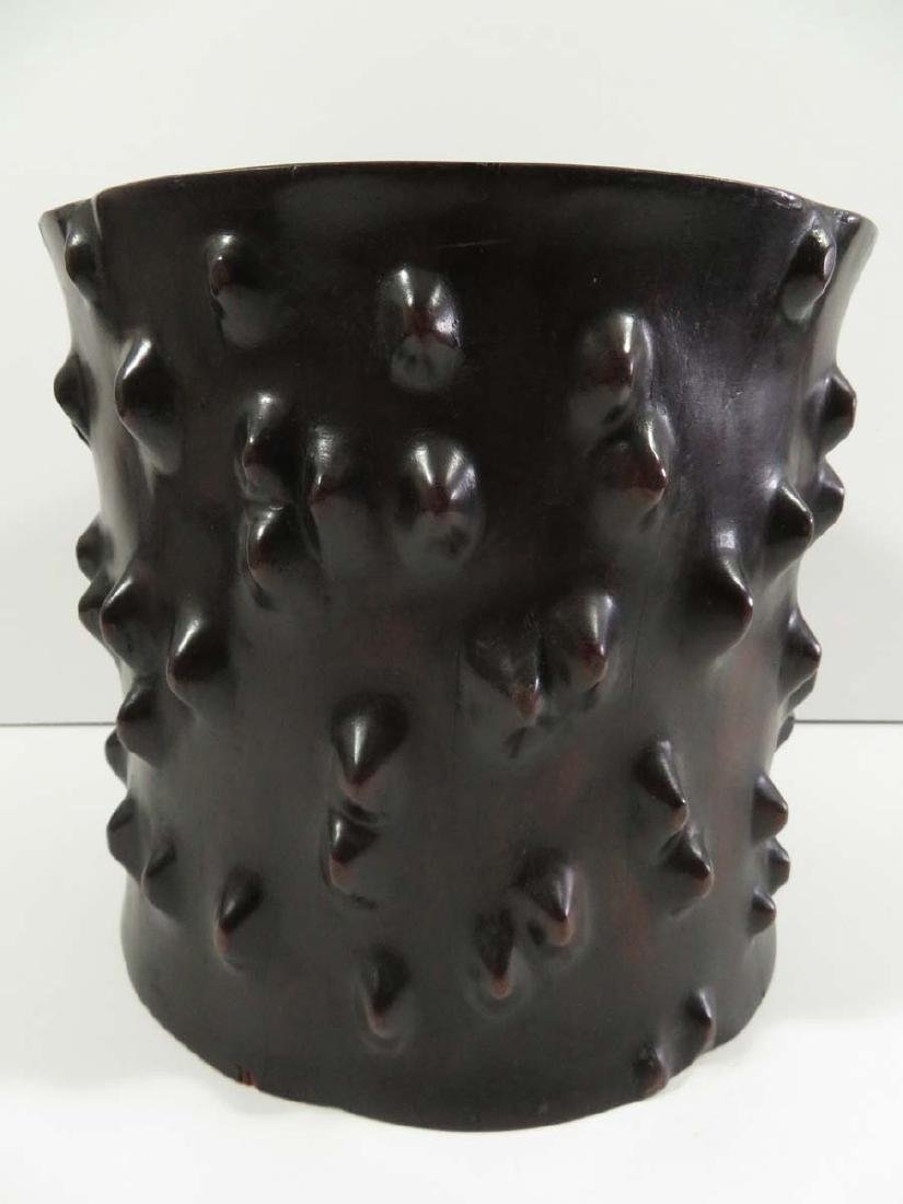 Chinese Zitan ? Wood Brushpot Tree Stump Form