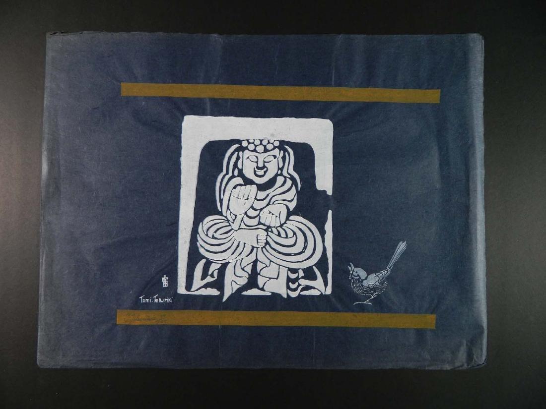 Tomikichiro Tokuriki Stencil Buddha and Bird