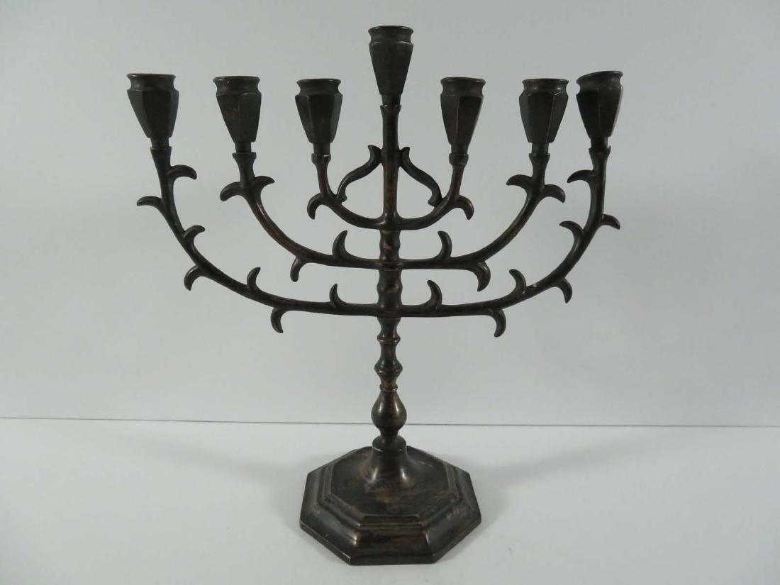 Bronze Articulated Menorah Judaica Jewish