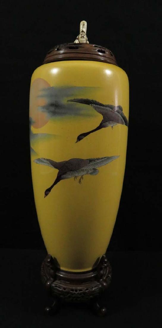 Japanese Cloisonne Vase Seal Signed Goto Shozaburo