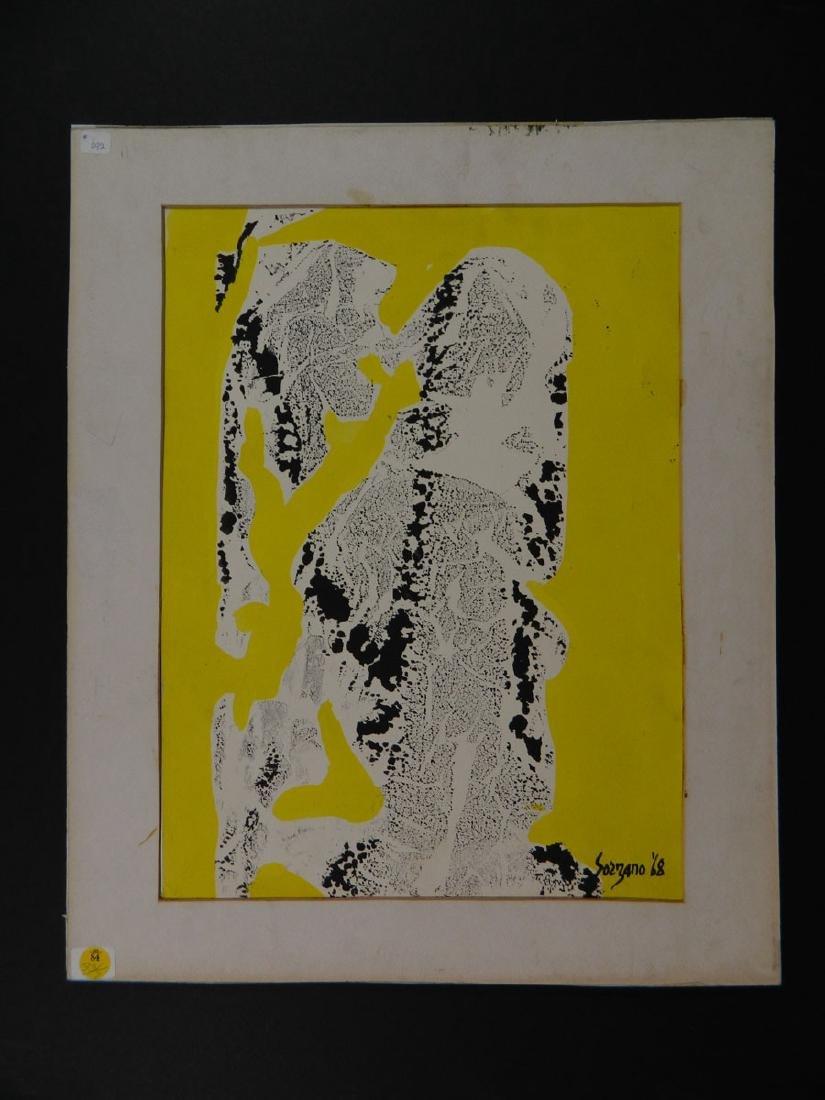 Gabriel Sorzano Biomorphic Abstract Yellow Black