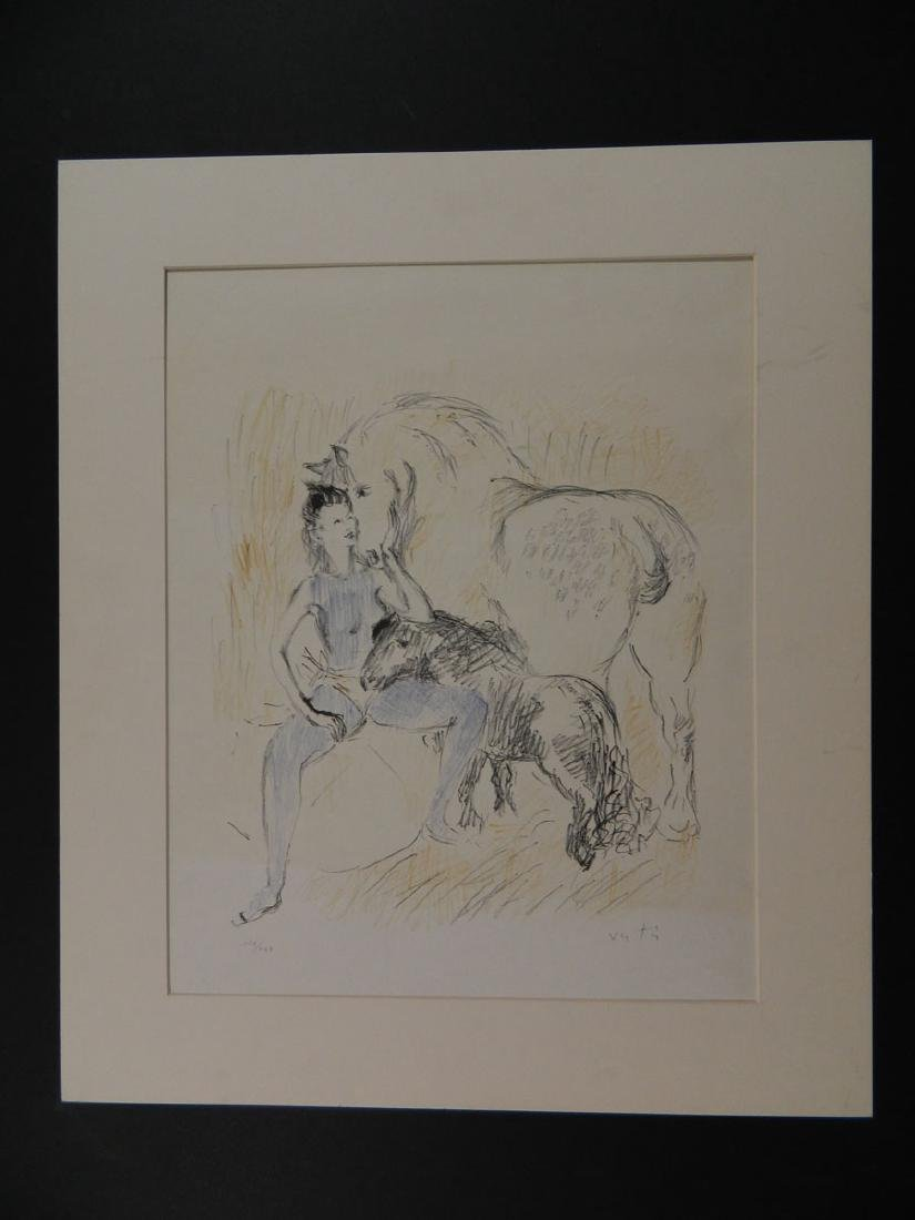 Marcel Vertes Sgd Litho Circus Girl with Horses