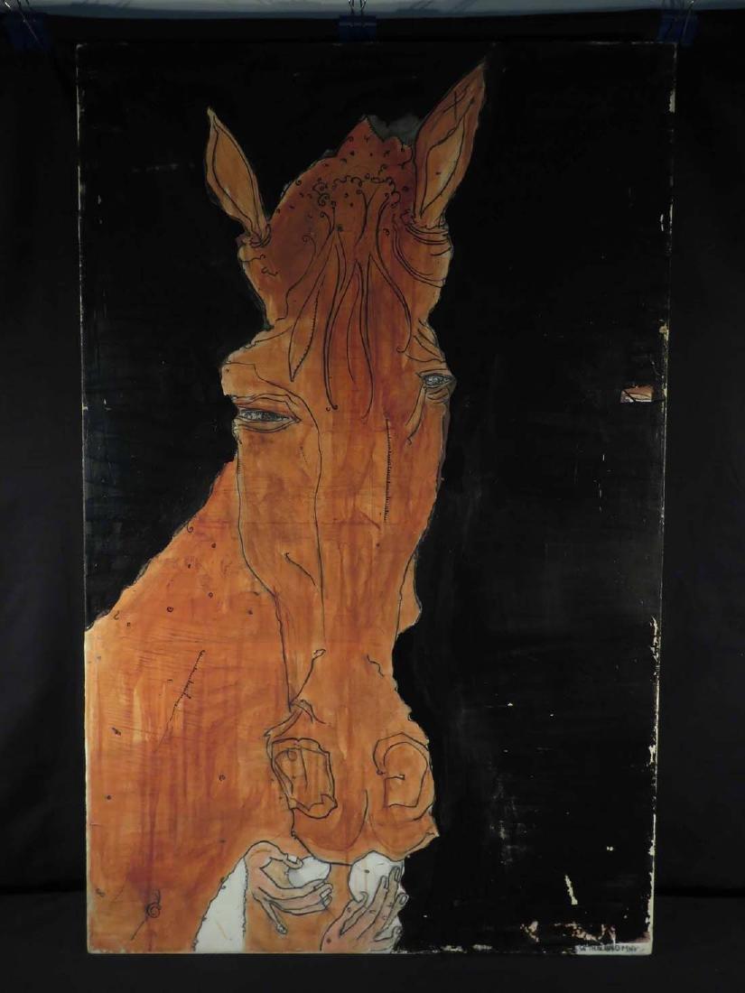 Seth Minkin Lg Original Oil Feeding Horse