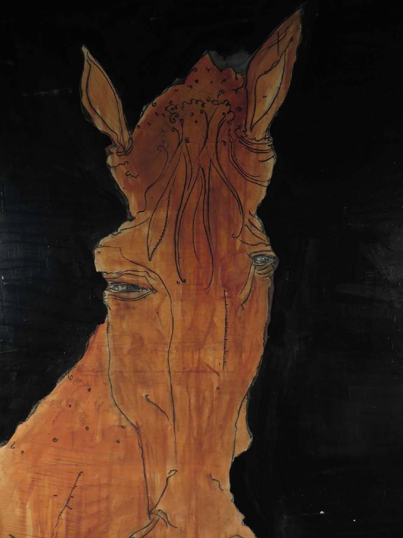 Seth Minkin Lg Original Oil Feeding Horse - 2
