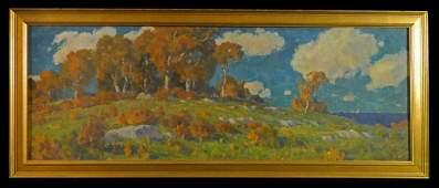 Thomas Manley NJ PA Hilltop Landscape w/ Clouds