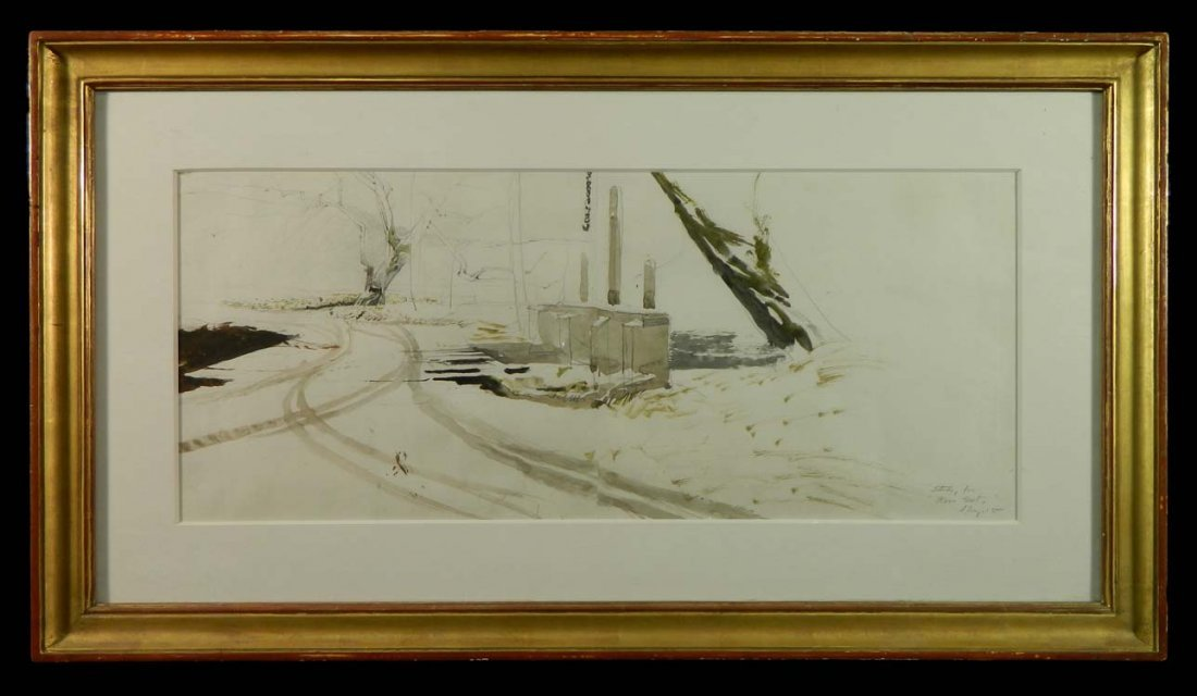 Andrew Wyeth Study For Race Bridge (Note A)