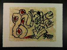 Pierre Alechinsky Denouement Abstract Lithograph