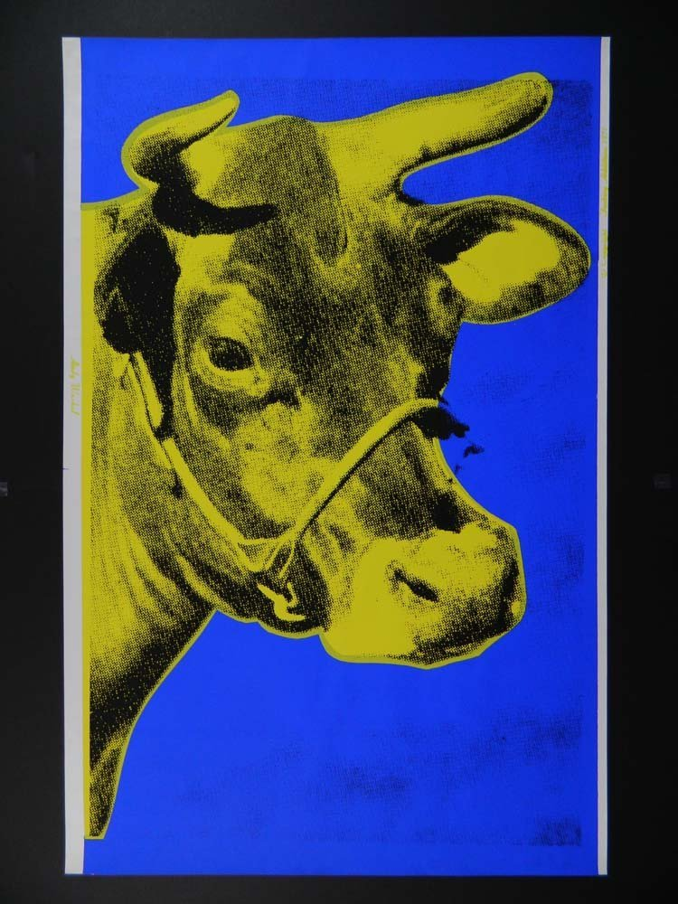 Andy Warhol Pop Art Yellow Cow Factory editions.