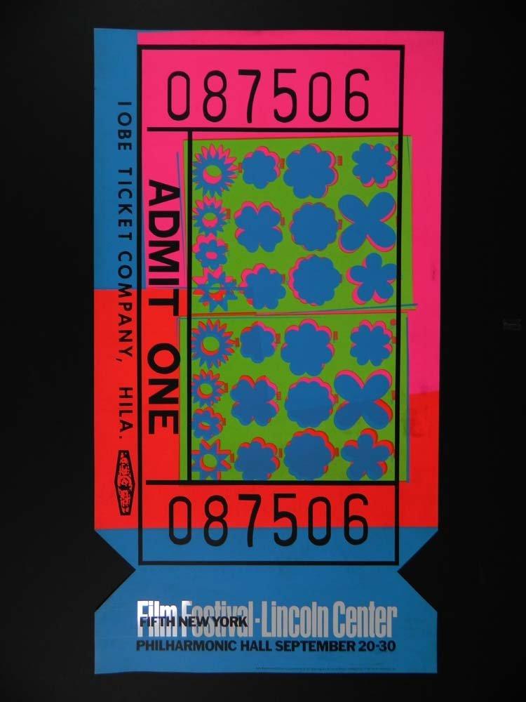 Andy Warhol Pop Art Ticket Lincoln Center