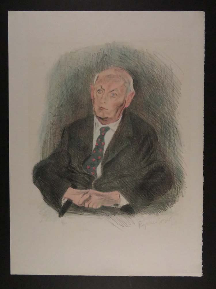 Raphael Soyer Portrait Isaac B Singer 21/150