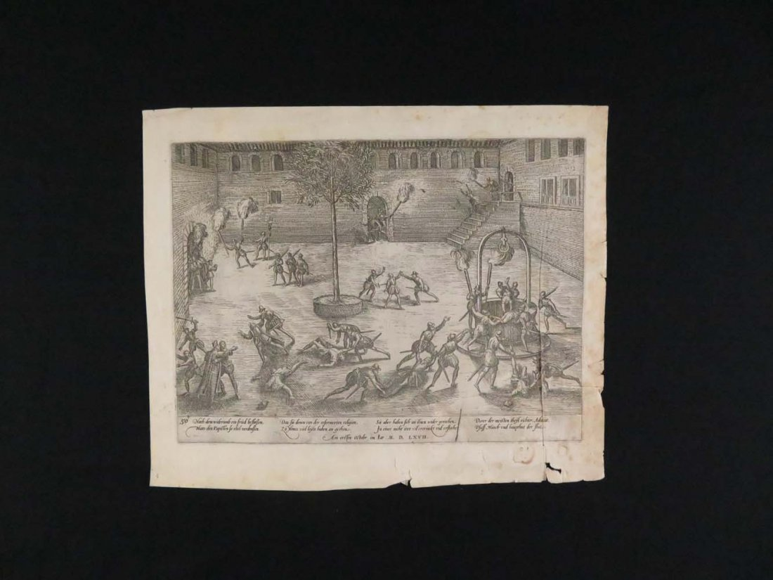 Hogenberg Old Master Engraving Dutch War Independence