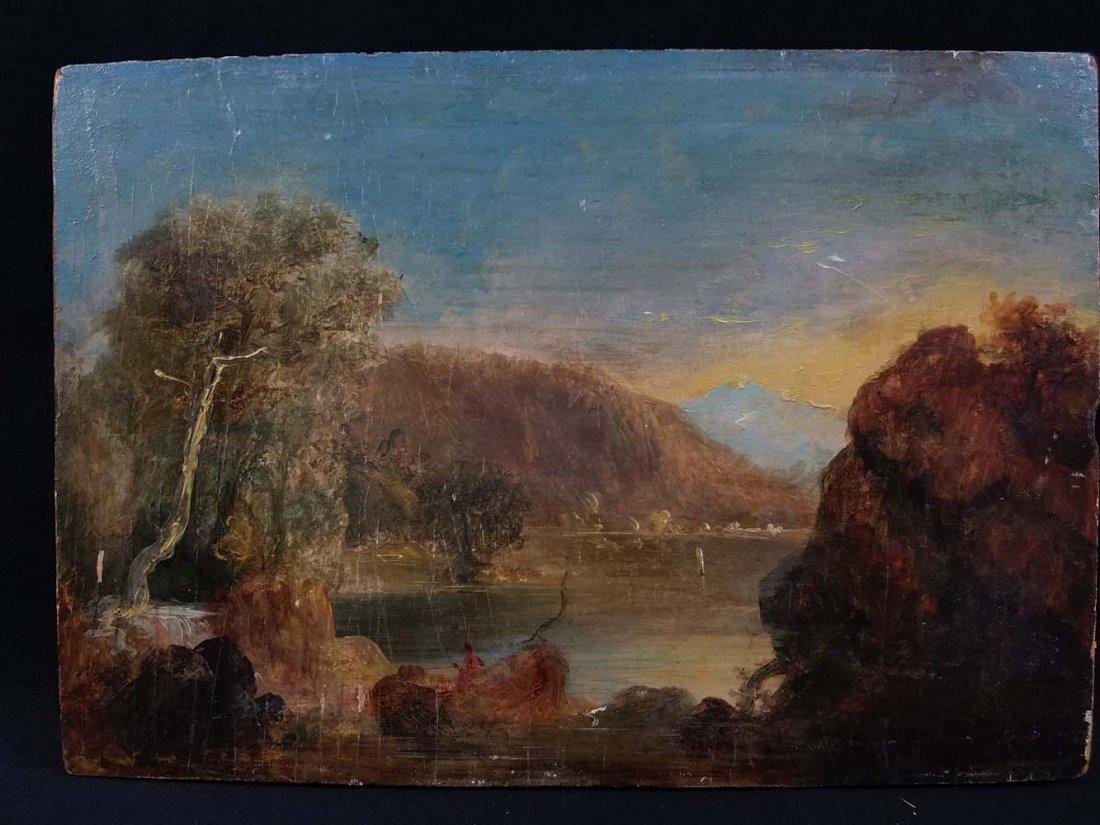 Old Master Lake and Mountain Scene