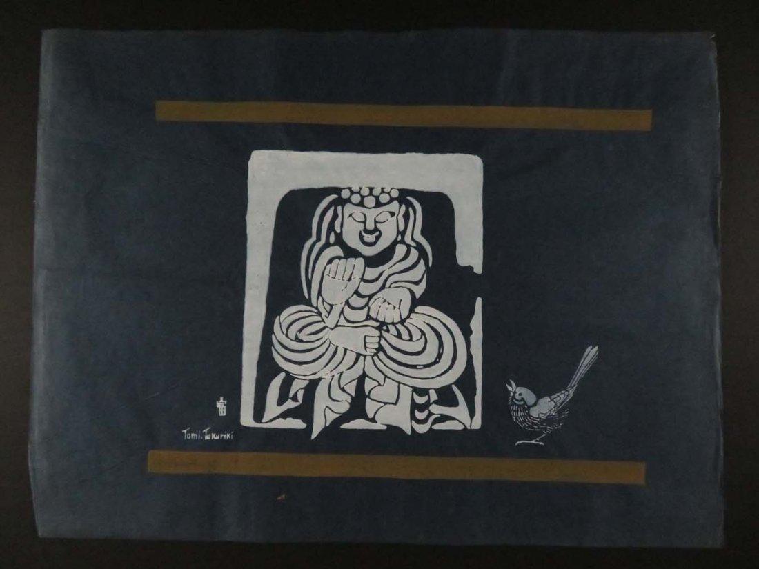 Tomi Tokuriki Stencil Buddha Bird