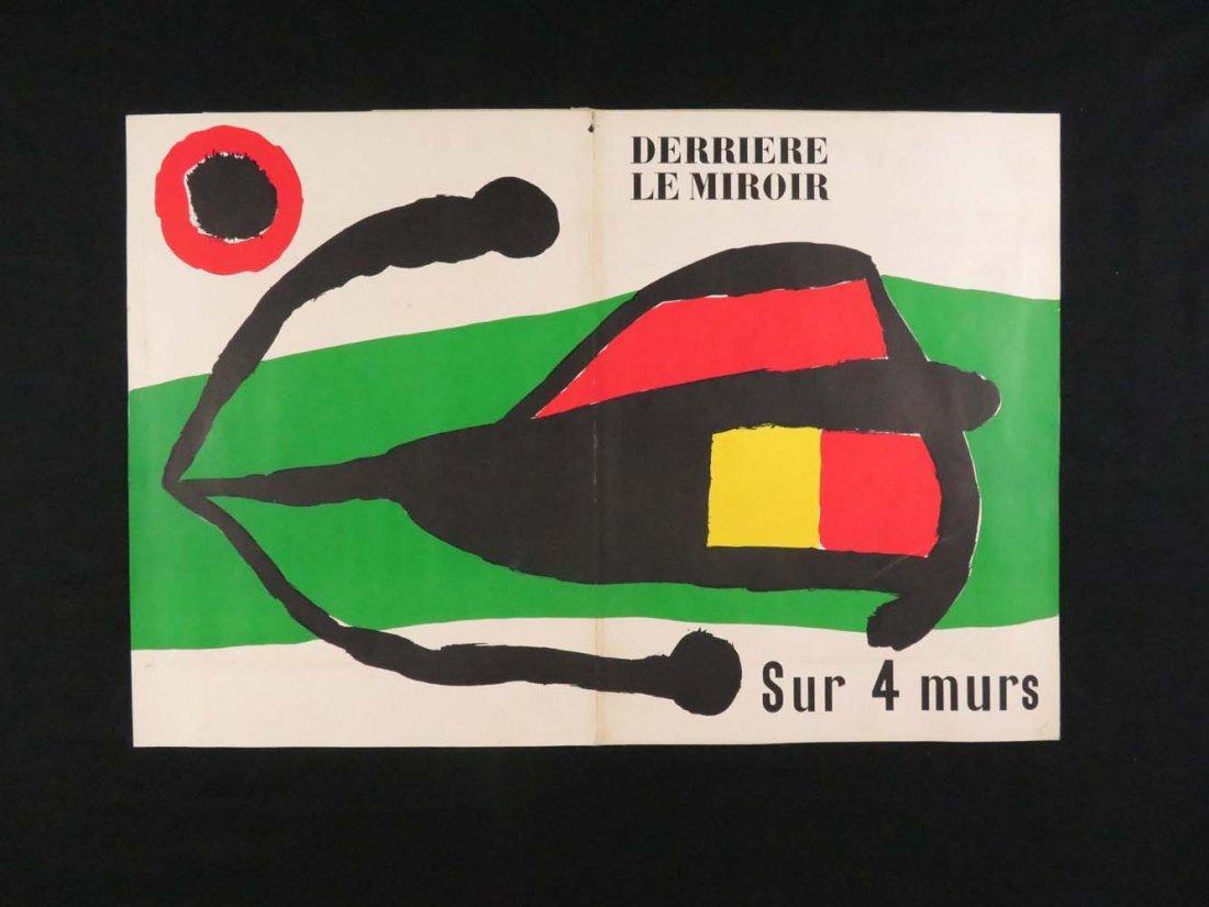 """Joan Miro """"Derriere le Miroir"""" Maeght Paris Foldout"""