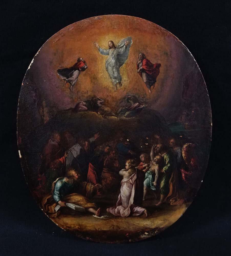 Old Master Jesus In Sky w/ Croud