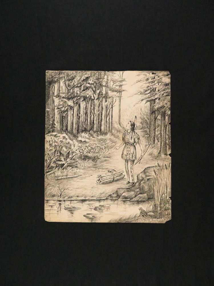 LD Fazzini Lot of 5 Illustrations Native Americans