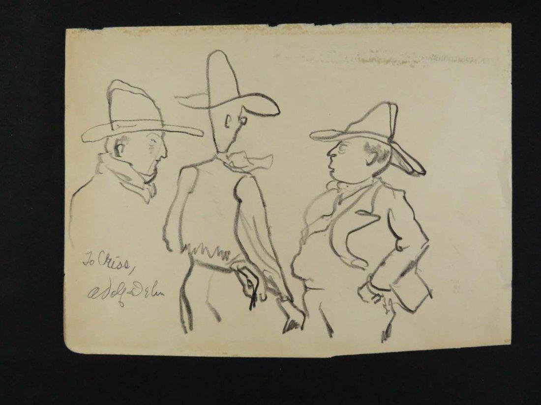 """Adolf Dehn Cowboys """"Arthur Murphy San Francisco"""""""
