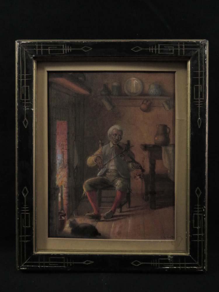 John Carlin African American Violinist Fireside