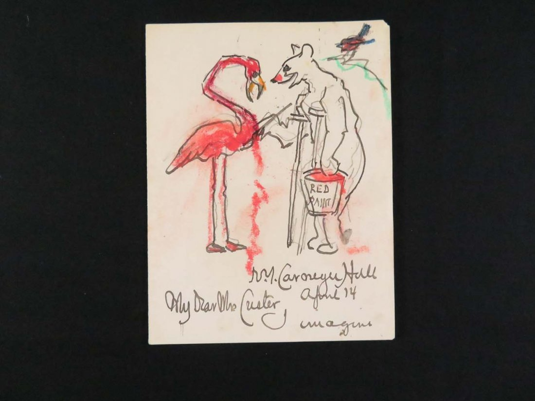 FS Church  Flamingo and Bear Carnegie Hall New York on