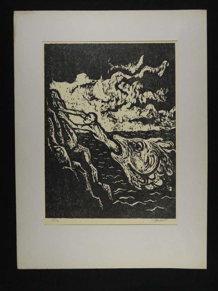 Jakob Steinhardt Portfolio Cover & Woodblock Jonah