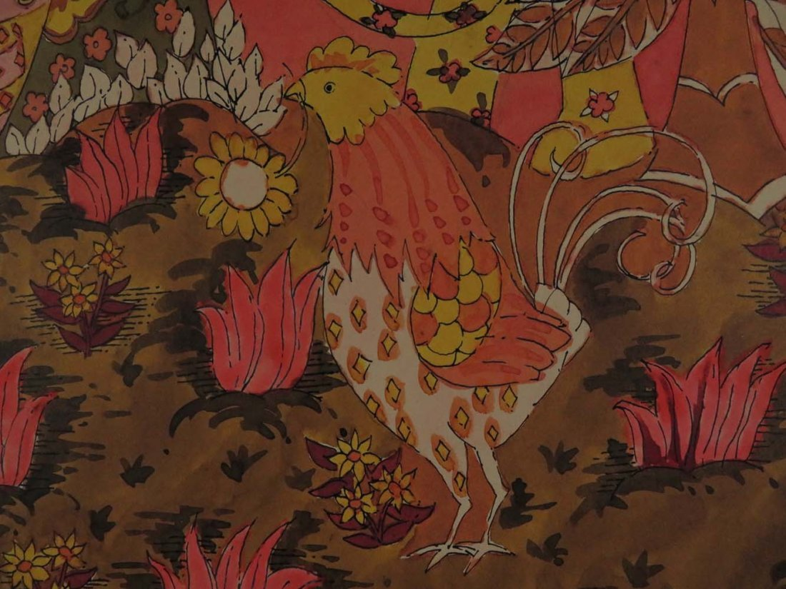 Monogram DB Fantasy with Woman Lion and Chicken - 4