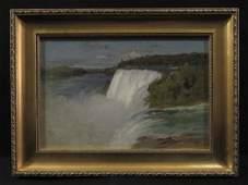 Fine Luminist 19th C Waterfall Landscape